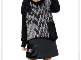 style驿站 2014韩国东大门秋季新款个性时尚编织缎带拼接黑
