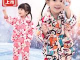 秋冬男孩儿童法兰绒睡衣 男童女童珊瑚绒家居服 卡通长袖睡衣套装
