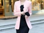 2013秋新款复古OL气质 修身无扣长袖小西装 女式小西服外套968