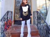 2015新款韩版 宽松大码长款米奇圆领长袖套头卫衣女A051