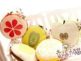 特价批发蓝白玩偶 卡通苹果柠檬 创意水果兔兔毛绒玩具靠垫 抱枕