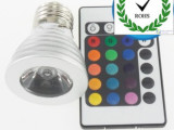 RGB射灯 led彩色射灯 KVT包房灯具 LED灯具七彩摇控摄