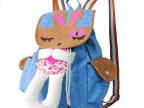 新款韩版时尚可爱休闲帆布背包 小白兔双肩包系列背包书包
