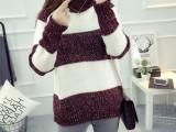 秋冬女式毛衣批发韩版中长款开衫外套女式毛衣5元特价上新款毛衣