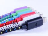 现货批发供应 MICRO编织数据线 尼龙编织面条线 V8面条线量