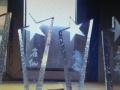 天工广告水晶奖杯+刻字 对外加工出售 水晶奖牌定制