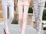 2015新款棉麻女裤哈伦韩版显瘦长裤潮女士休闲小脚铅笔裤子