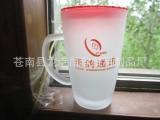 供应磨砂水杯 玻璃马克杯 中国人寿保险 广告促销