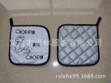 全棉隔热垫,可以按照客人要求订LOGO,材质,款式可以多种