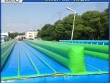 大型户外移动充气成人滑水道充气儿童游泳池滑梯游乐设备厂家直销