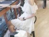 韩国东大门代购 2015夏季女装新品蕾丝露肩蓬蓬裙短袖连衣裙88