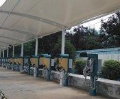 膜结构充电车棚多少钱一平方_膜结构充电车棚