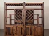 老船木办公展示柜文件柜商品展示柜玻璃柜酒柜书架货架隔断