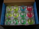 tpr玩具 厂家直销儿童球七彩弹跳球 水晶球弹力球5.0 七彩球