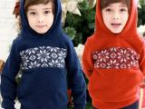 14年新款韩版儿童加绒卫衣 童冬款上衣 儿童冬款套头衫 圣诞卫衣