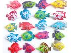 夏天钓鱼玩具 磁性钓鱼散装双面鱼批发 公园钓鱼磁性散装鱼 混批