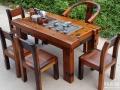 老船木茶桌椅组合原生态实木船木家具茶台茶几批发