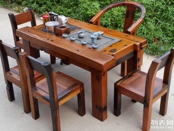 福緣老船木家具茶桌 支持定制 廠家直銷