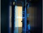 重慶網紅餐廳樓梯護欄發光玻璃激光內雕