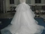 2015韩版新款婚纱礼服新娘结婚双肩蕾丝镂空高档婚纱