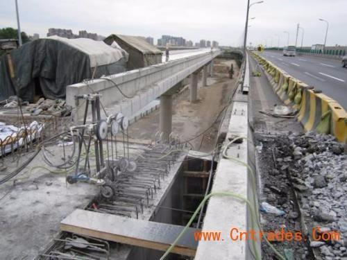 北京绳锯切割 桥梁桥墩切割拆除 支撑梁切割高架桥拆除方案