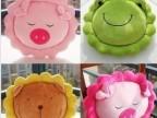 可爱葵花狮子 卡通创意动物抱枕坐垫小猪靠垫可爱情侣娃娃